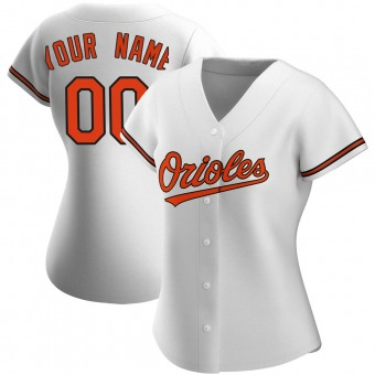 Women's Authentic Baltimore Orioles Custom Home Jersey - White