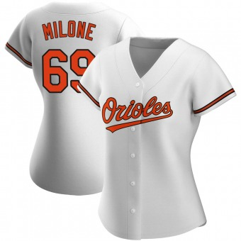 Women's Authentic Baltimore Orioles Tommy Milone Home Jersey - White