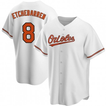 Youth Replica Baltimore Orioles Andy Etchebarren Home Jersey - White
