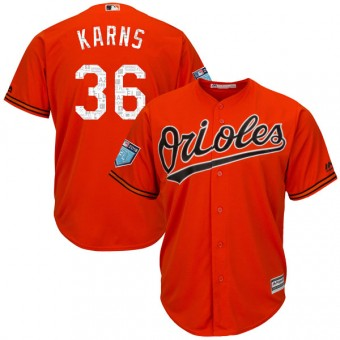 Authentic Baltimore Orioles Nate Karns Majestic Cool Base 2018 Spring Training Jersey - Orange