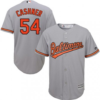 Youth Authentic Baltimore Orioles Andrew Cashner Majestic Cool Base Road Jersey - Grey