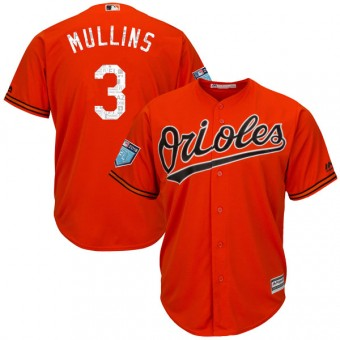 Youth Authentic Baltimore Orioles Cedric Mullins Majestic Cool Base 2018 Spring Training Jersey - Orange