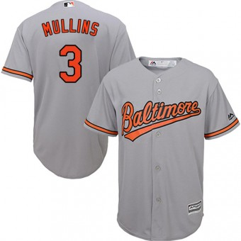 Youth Authentic Baltimore Orioles Cedric Mullins Majestic Cool Base Road Jersey - Grey