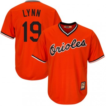 Youth Replica Baltimore Orioles Fred Lynn Majestic Cool Base Alternate Jersey - Orange