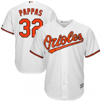 Youth Replica Baltimore Orioles Milt Pappas Majestic Cool Base Home Jersey - White