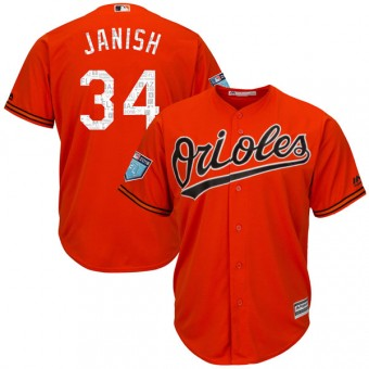 Authentic Baltimore Orioles Paul Janish Majestic Cool Base 2018 Spring Training Jersey - Orange